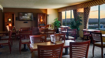 Concierge Lounge at the Hilton Woodland Hills Hotel