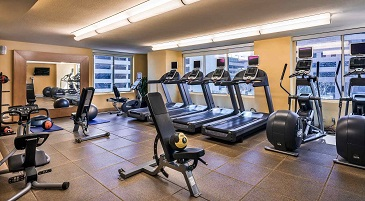 Fitness Center at the Hilton Woodland Hills Los Angeles Hote